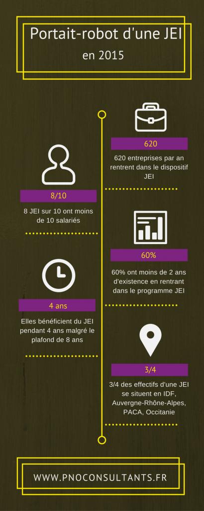 Infographie Portrait-robot JEI en 2015