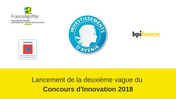 Concours Innovation 2018 deuxième vague