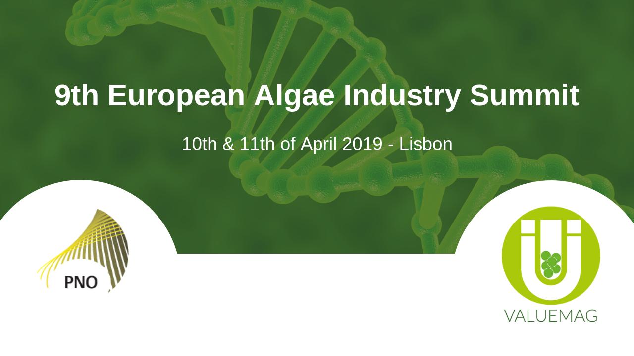 PNO Consultants participera au 9ème Sommet européen de l'industrie des algues
