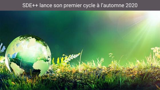 SDE++ lance son premier cycle à l'automne 2020