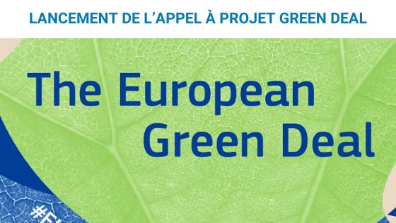 Visuel appel à projet Green Deal