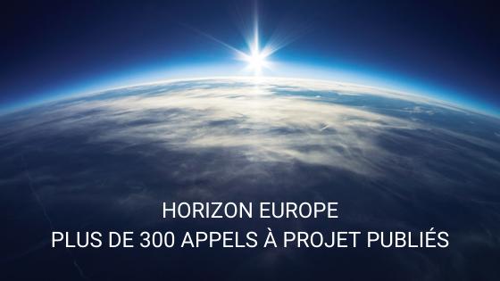 Horizon Europe 300 appels à projet