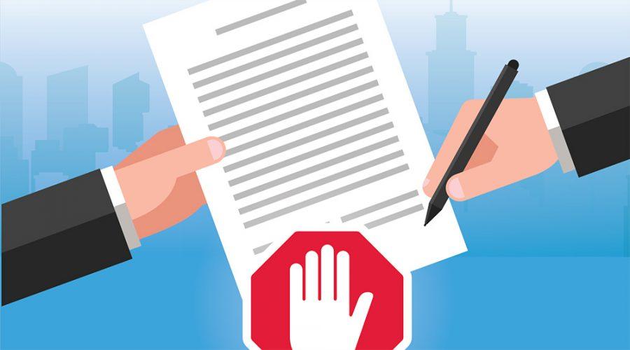 de-minimisverklaring tekenen