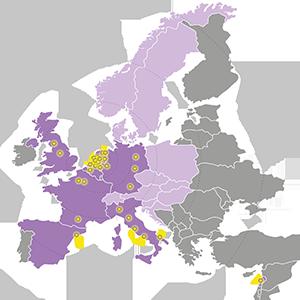 PNO is vertegenwoordig in heel Europa