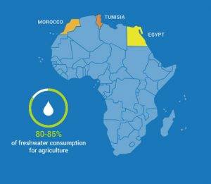 The MADFORWATER innovations will be tested in several pilot locations in Egypt, Morocco and Tunisia